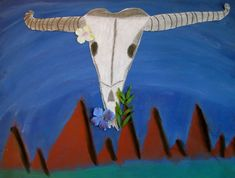 O'Keeffe skulls - by GTown 5th graders