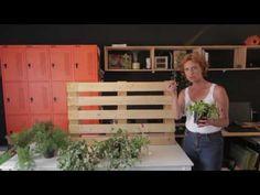 Saiba como fazer um jardim vertical na parede da sua casa. - YouTube Cute Diys, 1, Outdoor Structures, Youtube, Pallet Accent Wall, Garden Pallet, Wall Trellis, Vegetable Garden, Business