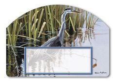 Magnet Works Yard DeSigns Yard Sign - Blue Heron Design Address Plaque