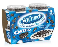 Explore YoCrunch's wide variety of yogurt with toppings and find your favorite flavors. Bolo Hello Kitty, Chocolate Candy Brands, Bebidas Do Starbucks, Oreo Flavors, Sleepover Food, Junk Food Snacks, Yummy Ice Cream, Chocolates, Low Fat Yogurt