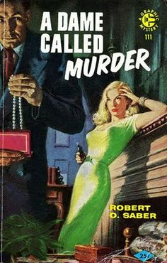 vintage pulp fiction dame called murder