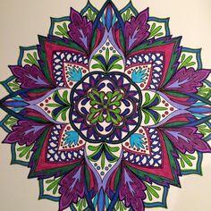 ColorIt Mandalas to Color Volume 1 Colorist: Edna Santangelo Phelps #adultcoloring #coloringforadults #mandalas #mandala #coloringpages