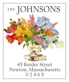 Add color to your correspondence! Illustrated return address labels by Felix Doolittle.