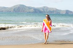 Say Goodbye to Soggy Cover-Ups With This DIY Beach Towel Poncho via Brit + Co
