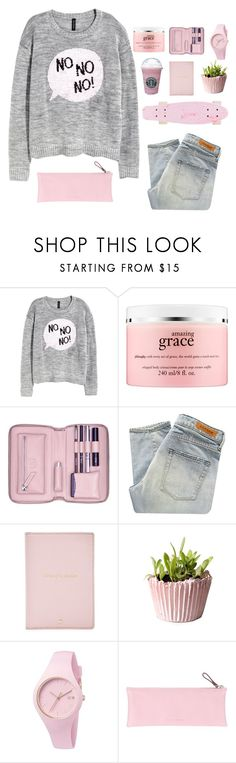 """""""♡ YOU CAN'T WAKE UP THIS IS NOT A DREAM"""" by lxst-in-the-clouds ❤ liked on Polyvore featuring H&M, philosophy, Lili Radu, Denham, Kate Spade, Ice-Watch, Giorgio Fedon 1919 and sloanessimples"""