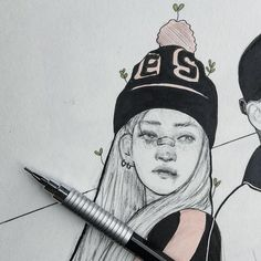 """5,848 Likes, 24 Comments - Peach bee  (@pepe.peach) on Instagram: """"Redraw of my @heizeheize fanart . . . . #heize #sketch #sketchbook #heizefanart #fanart #sketchy…"""""""