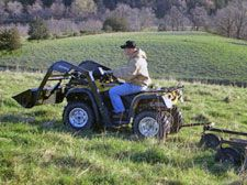 All-terrain Farming  ATVs offer benefits to farmers; ongoing farm tasks are no match for an ATVs versatility