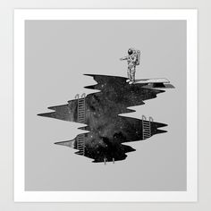 Space Diving Art Print by Nicebleed - $18.00