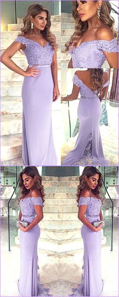 Fabulous Tulle & Chiffon Off-the-shoulder Neckline Sheath Formal Dresses With Beaded Lace Appliques