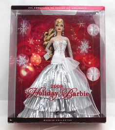 Holiday 2008 Barbie Doll for sale online Play Barbie, Barbie Dolls For Sale, Barbie I, Barbie Dream, Vintage Barbie Dolls, Barbie And Ken, Princess And The Pauper, Silver Gown, Christmas Barbie