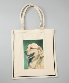 Take a look at this Natural Golden Retriever Shopper Tote by AWST INTERNATIONAL on #zulily today!