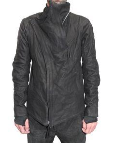 Boris Bidjan Saberi Leather Zip Jacket, black, future clothes