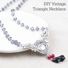 Easy DIY Jewelry Tutorial | Vintage Triangle Necklace