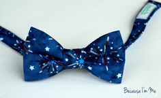 Mens Bow Tie  Red White and Blue Fourth of July by becauseimme