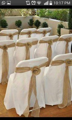 Decoraçao cadeira casamento