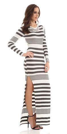 97385e77a 23 melhores imagens de vestidos listrados | Stripe dress, Stripes e ...