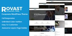 Rovast - Multipurpose Wordpress Theme by HasTech  Rovast is a Multipurpose WordPress Theme with modern and clean designed. Using Rovast you can quickly create unique websites for