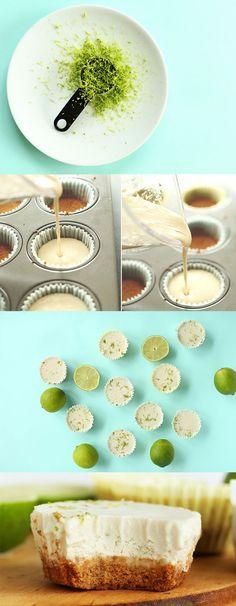 7 Ingredient Vegan Key Lime Pie Bites! Super easy so creamy and delicious!