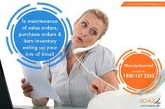 Is maintenance of sales & purchase orders eating up your lots of time? Then Visit at http://bit.ly/2bmeN7r