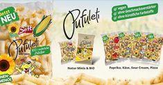 #vendosnacks #snacks #palmoilfree #kids #family #snacking #healthy Sour Cream, Minis, Pizza, Snack Recipes, Snacks, Vegan, Cereal, Chips, Slovenia