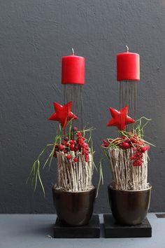 Weihnachtliche Gesteck-Ideen (mehr sehen) - Fachgroßhandel für Floristikbedarf, Deko & Wohnaccessoires