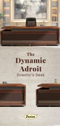 Exude confidence with the Adroit Director's  👨💼 Desk for its: •        Premium engineered wood  •        Ample storage for better organized workspace 💻 🗃 •        Walnut design moveable pedestal  #durianforoffice #durianfurniture #officefurniture #officedesk #director #officecabin #luxuaryoffice #officefurnituretrends #workspaceinspo