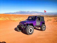 Purple jeep