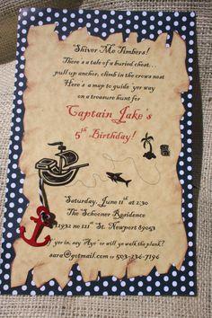 Pirate theme invite