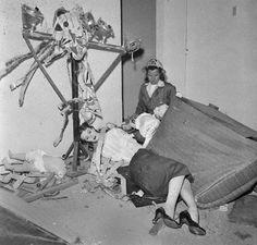 Atomic test dummy aftermath.