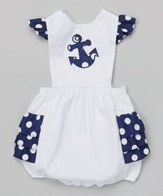Look at this #zulilyfind! White & Navy Anchor Bubble Bodysuit - Infant by BeMine #zulilyfinds http://www.zulily.com/invite/jleonard959
