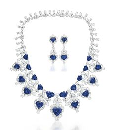 A SET OF SAPPHIRE AND DIAMOND JEWELRY, BY GRAFF | Jewelry, group / set | Christie's