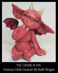 Fantasy Fairy Dragon Dollhouse Mini Art Doll Polymer Clay CDHM OOAK Iadr Vis Fae | eBay