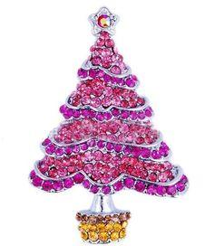 Rhodiniert swarovski weihnachtsbaum Tree Topper