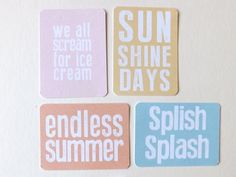 Free 'Endless Summer' printables for Project Life
