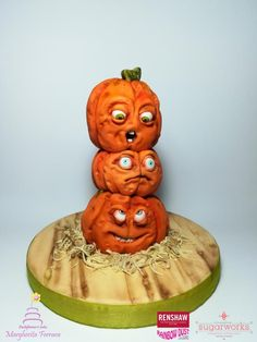 Silly Pumpkins - cake by Fashflowercake Halloween cake Miss Cake, Pipe Decor, Fall Cakes, Halloween Cakes, My Crazy, Themed Cakes, Cake Pops, Autumn Leaves, Pumpkins