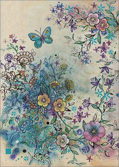 BugArt Paper & Foil ~ Flower Hedge. PAPER & FOIL Designed by Jane Crowther.