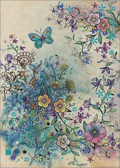 BugArt Paper & Foil ~ Flower Hedge. PAPER & FOIL Designed by Jane Crowther.
