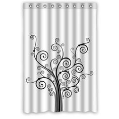 Best Black Tree Shower Curtain for Your Bathroom Decor (with images) · showercurtain Tree Shower Curtains, Black Tree, Best Black, Bathroom, Artwork, Image, Beautiful, Design, Home Decor