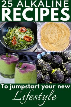 25 Alkaline Recipes to Jumpstart Your New Lifestyle Alkaline Diet Recipes Use these delicious alkaline diet recipes to give your body the boost it needs to be healthier. The Raw Cocoa Almond Bliss Balls are especially yummy… Alkaline Diet Recipes, Alkaline Foods, Detox Recipes, Healthy Recipes, Candida Diet Recipes, Smoothie Recipes, Alkaline Diet Plan, Advocare Recipes, Protein Recipes