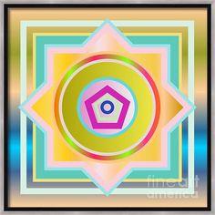 Circle Square Canvas Print / Canvas Art By Vesna Panic Framed Canvas Prints, Canvas Frame, Canvas Art, Art Prints, Square Canvas, Chicago Cubs Logo, Great Artists, Modern Art, Digital Art
