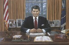 Patriotic - Americana - Ronald Reagan - It Can Be Done - McNaughton Fine Art Trump Is My President, President Ronald Reagan, American Presidents, Us Presidents, Jon Mcnaughton, Nancy Reagan, Litho Print, Oval Office, American Freedom