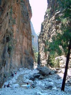 Samarian Gorge, Crete http://nwpassage.com/crete-classic-kayaking-tour