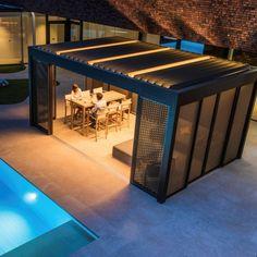 Louvered Roof Covers Portfolio | Garden House Design