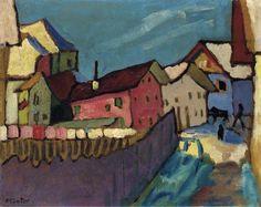 Gabriele Münter (1877-1962) Aanvankelijk was Münter wars van artistieke beïnvloeding, omdat ze vreesde dat dit haar reputatie als autonoom kunstenaar zou kunnen schaden. Ze meed daarom ook museumbezoek en bijeenkomsten met collega-kunstenaars. Wel ging ze samen met Kandinsky op reis. Vanaf 1904 bezochten ze onder andere het Rijnland, Nederland, Tunesië, Dresden en Italië, om in 1906 samen een jaar in Frankrijk en met name in Parijs te studeren.