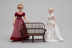 "Doll maker Debra Hammond has been a dealer at Good Sam for four years these are 1/2"" scale"