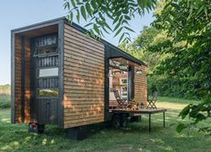 Exterior Side View - Alpha by New Frontier Tiny Homes