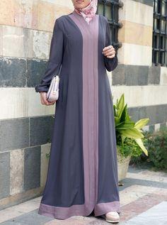 Women's Islamic Clothing: New Summer Collection Burka Fashion, Fashion Mumblr, Moslem Fashion, Muslim Women Fashion, Fashion Dresses, Fashion Watches, Hijab Style Dress, Hijab Chic, Abaya Designs Latest