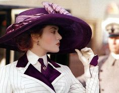 Kate Winslet as Rose in Titanic.  Love the hat!