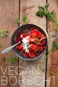 [original_tittle] – My Darling Vegan [pin_tittle] Warm up with this classic beet soup – a vegan and gluten-free Borscht for a hearty and healthy winter meal. Gluten Free Recipes For Lunch, Vegan Dinner Recipes, Healthy Soup Recipes, Delicious Vegan Recipes, Vegan Dinners, Whole Food Recipes, Vegetarian Recipes, Vegan Vegetarian, Healthy Meals