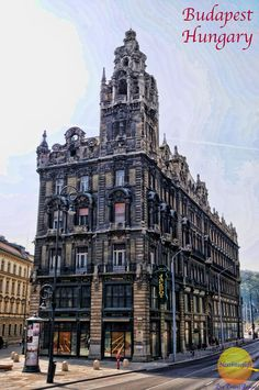 A very goth looking building on the Buda side of Budapest.